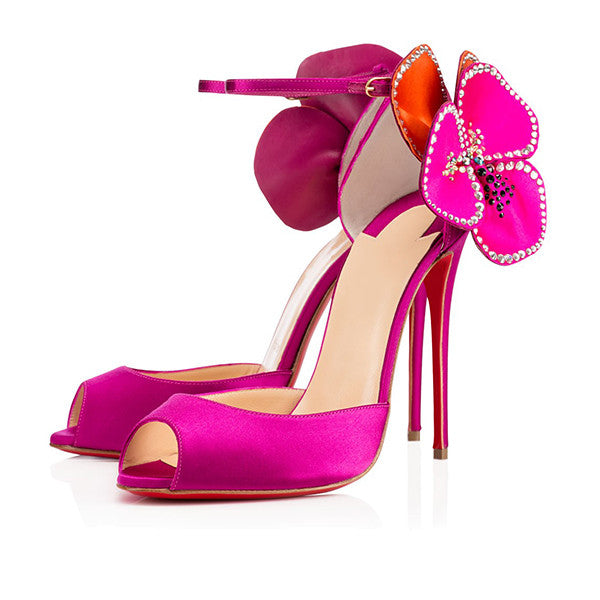 Orchid Satin Stiletto Sandals for $1.68 at Posh Girl