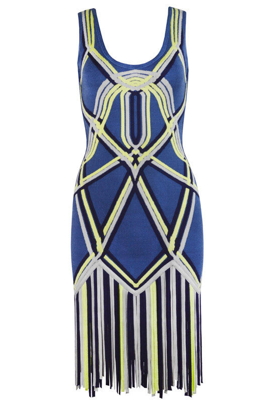 Dancer Girl Fringe Bandage Dress-POSH GIRL-Posh Girl