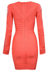 Roxanne Long Sleeve Cutout Bandage Dress for $1.88 at Posh Girl