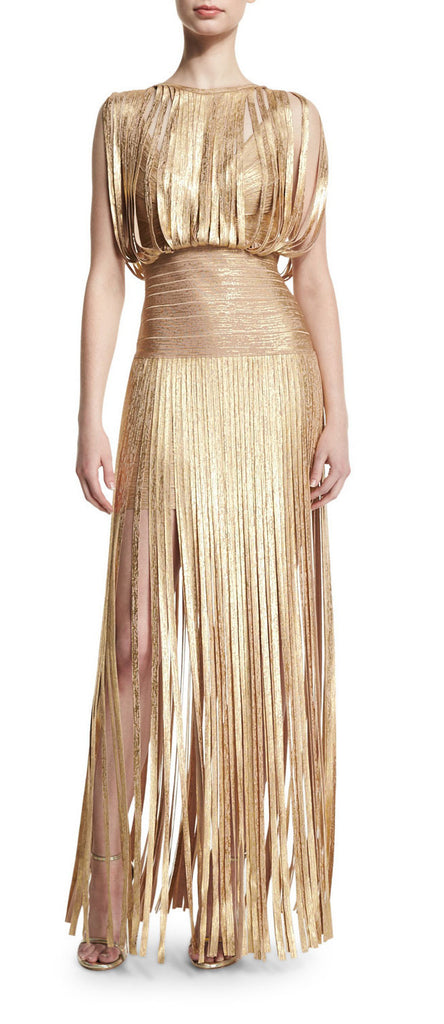 Swing Out Babe Gold Maxi Dress