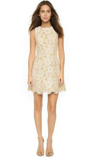 Dresses - Alice Olivia Leann Sleeveless Bell Dress Floral Lace Cotton-blend Guipure