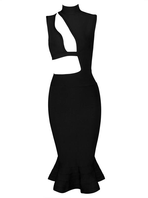 Hot Sugar Too Black Bandage Dress-POSH GIRL-Posh Girl