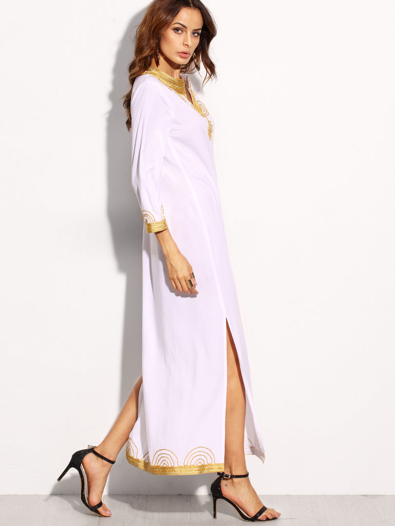White Embroidered Maxi Dress for $0.98 at Posh Girl