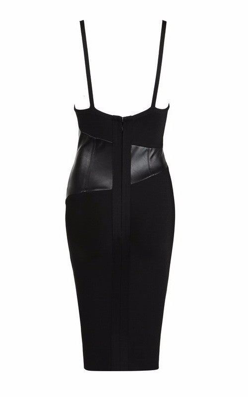 Black Vegan Leather And Bandage Dress for $1.58 at Posh Girl