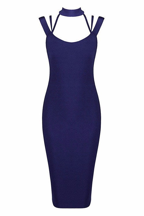 Get Him Girl Halter Bandage Dress-POSH GIRL-Posh Girl