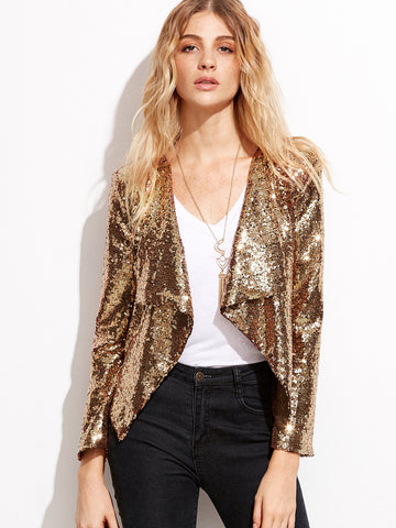 Gold Sequin Cocktail Jacket for $0.88 at Posh Girl