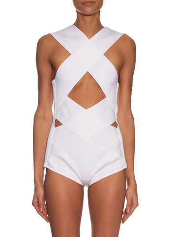 Vanity Cut-Out Bandage Bodysuit for $1.38 at Posh Girl