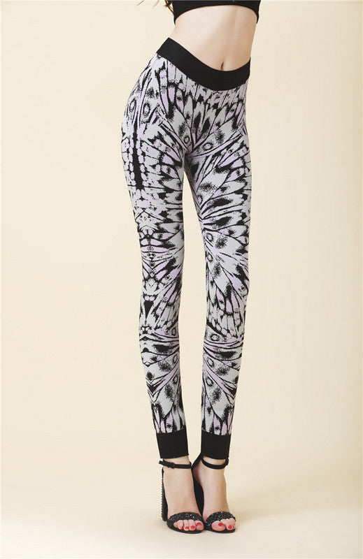 Butterfly Print Bandage Leggings-Posh Girl-Posh Girl