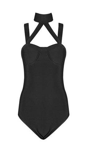 All Chocked Up Bandage Bodysuit for $0.88 at Posh Girl