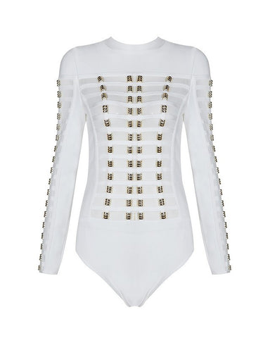 Rocker Girl Bandage Bodysuit for $0.98 at Posh Girl