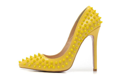 Pumps,Shoes - Posh Girl Bebe Leather Studded Pumps