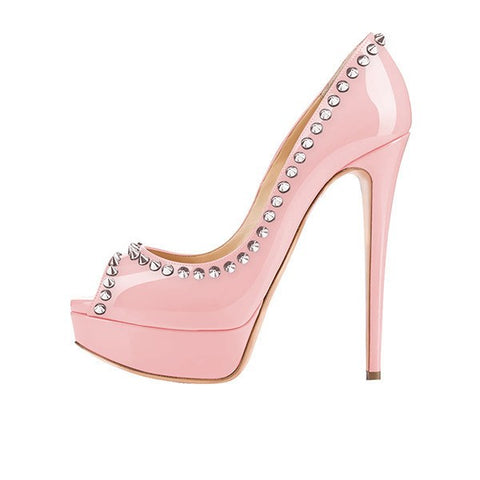 Shoes,Pumps, - Posh Girl Amina Studded Platform Pumps