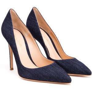 Shoes,Pumps - Posh Girl Blue Denim Stiletto Pumps