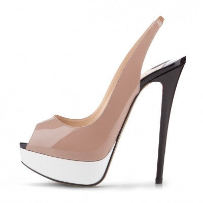 Shoes,Pumps - POSH GIRL Kizzy Nude Multi Color Platform Sandals