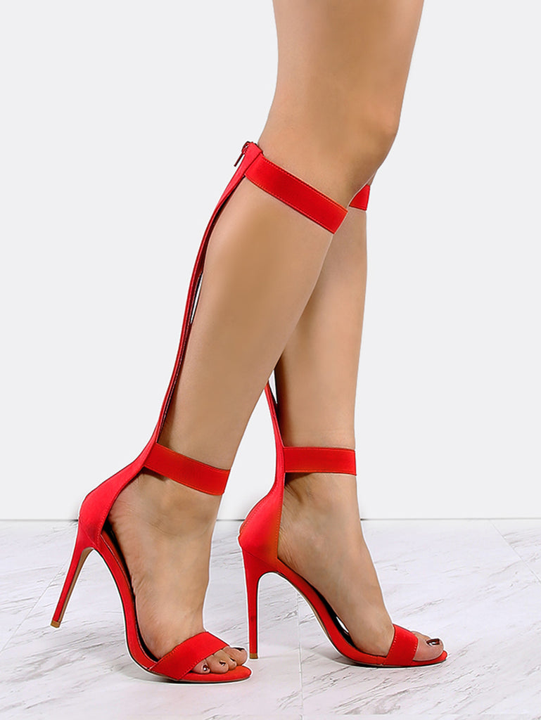 Sexy Susan Strappy Stiletto Sandals-POSH GIRL-Posh Girl
