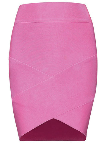 Skirt,Apparel, - POSH GIRL Grace High Waist Bandage Mini Skirt