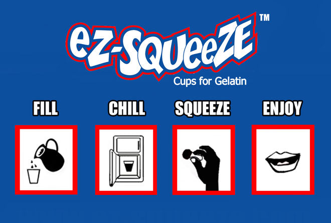 Fill, Chill, Squeeze, Enjoy! EZ-Squeeze Jello Shot Cups