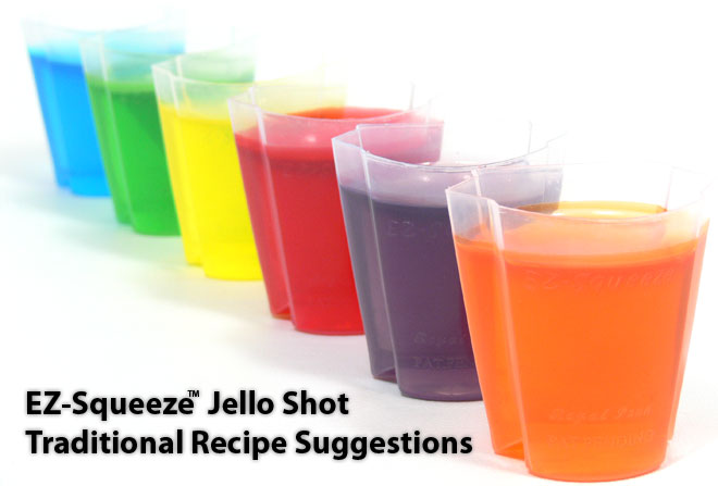 EZ-Squeeze™ Jello Shot Traditional Recipe Suggestions