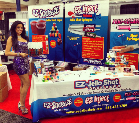 EZ-Jello Shot Products Tradeshow booth 2013 Halloween and Party Supply Expo (Houston, TX)