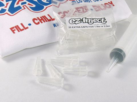 25 Pack Extra Injector Caps (any size)