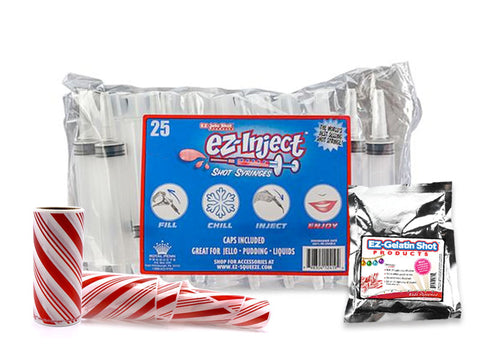 25 Candy Cane Large Injector Combo Kit (2.5OZ)