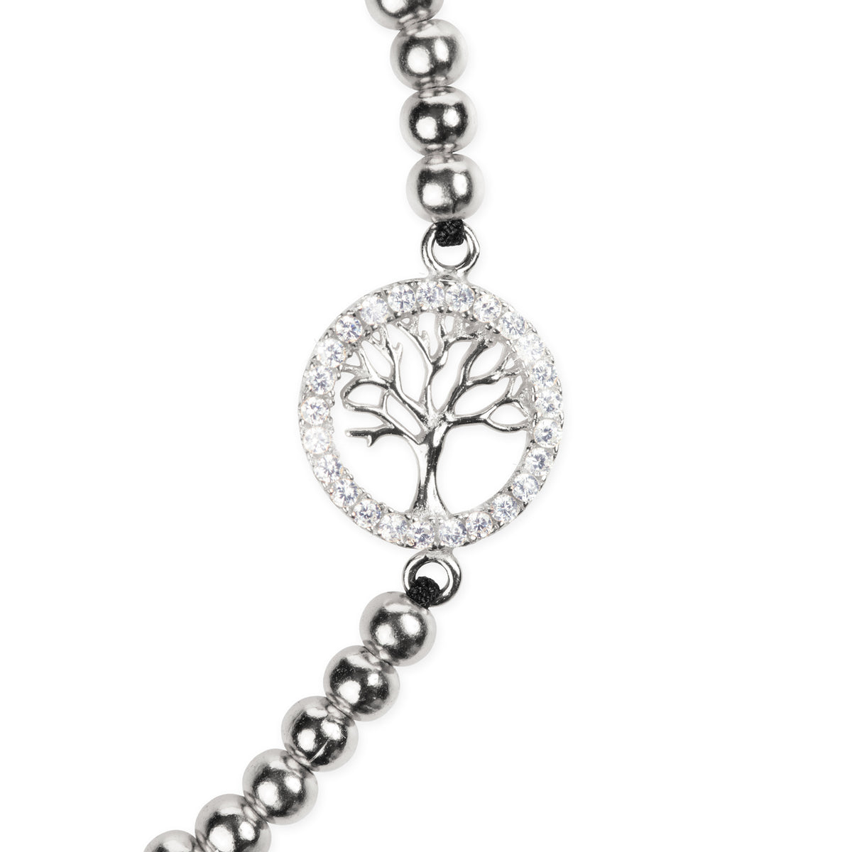 Positive Vibes Sterling Tree of Life Pendant Bracelet - Silver