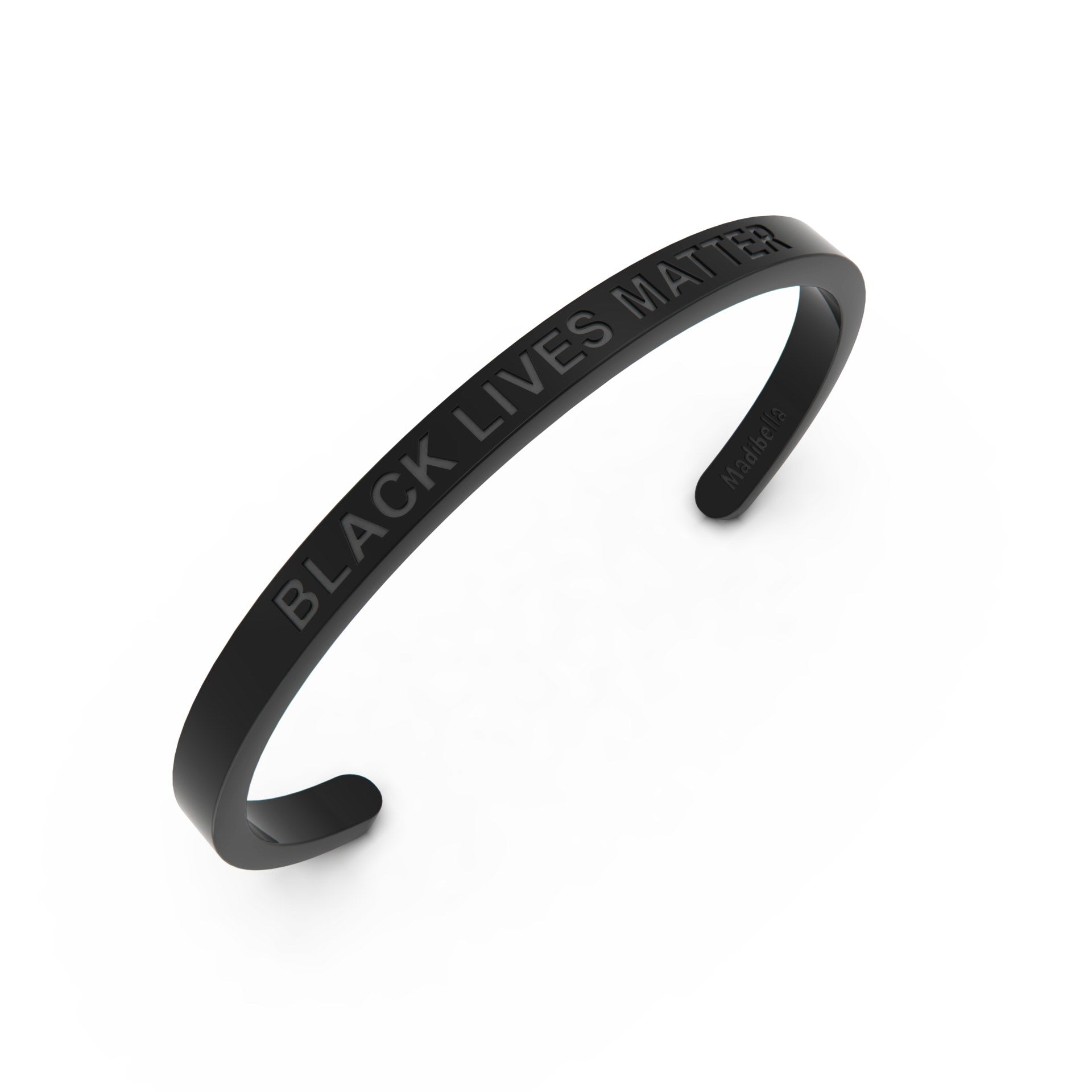Black Lives Matter Stainless Steel Cuff Bracelet