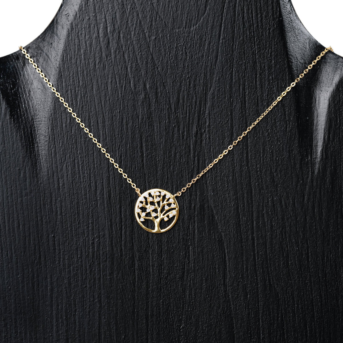 Mother Earth Sterling Tree Of Life Pendant Necklace - Gold