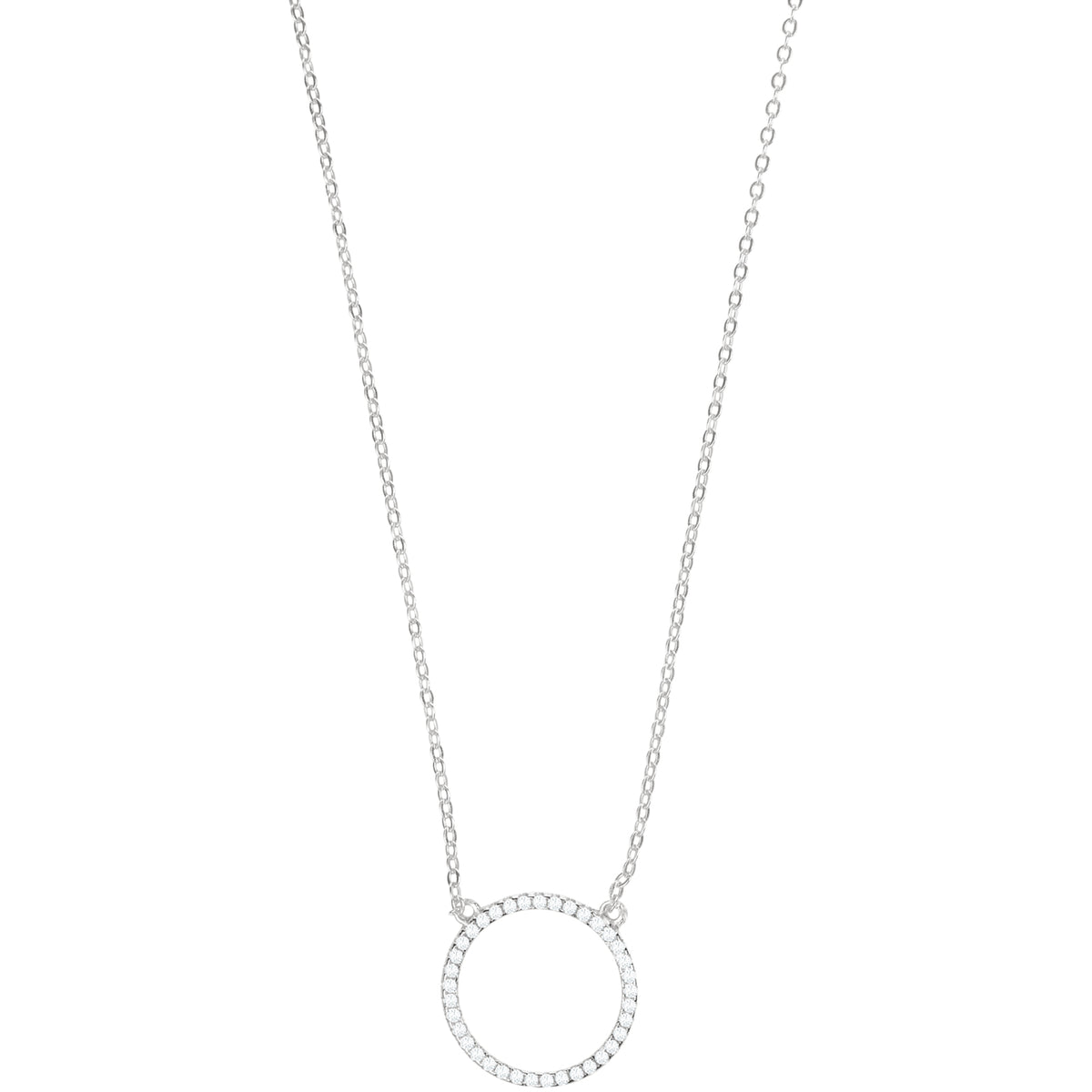 Unity Sterling Circle Pendant Necklace - Silver