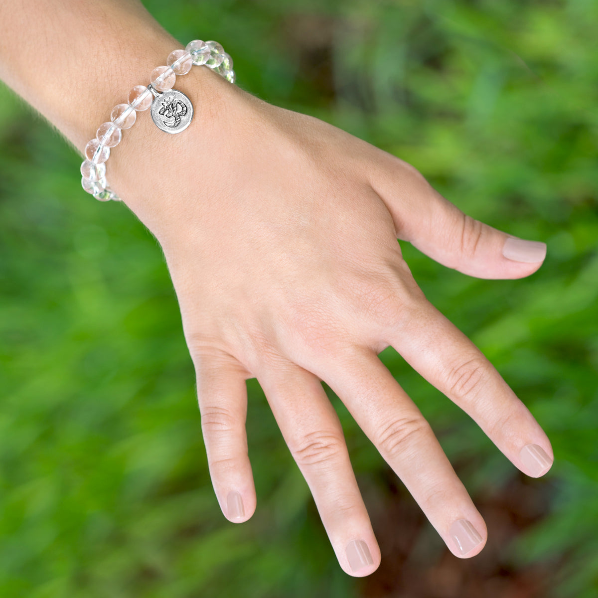 Om Natural Stone Bracelet + Necklace Set