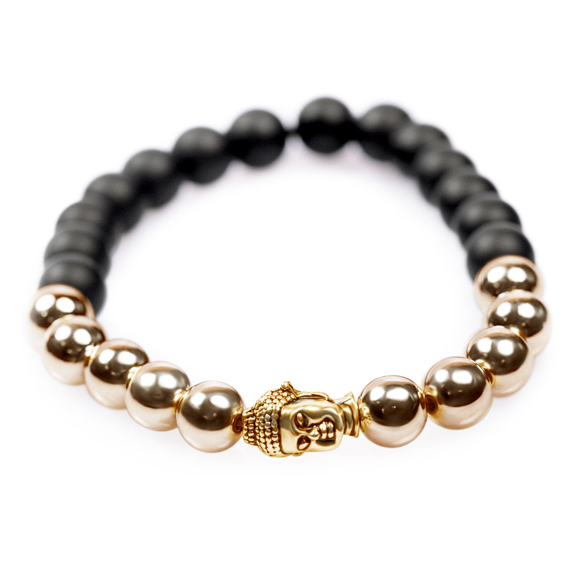 Protecting Black and Gold Buddha Bracelet