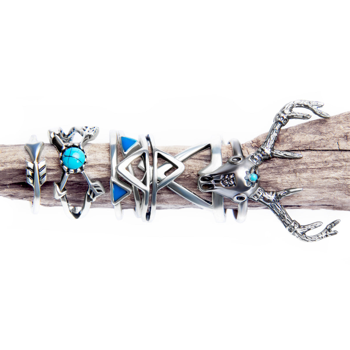 7-Piece Bohemian Tribal Ring