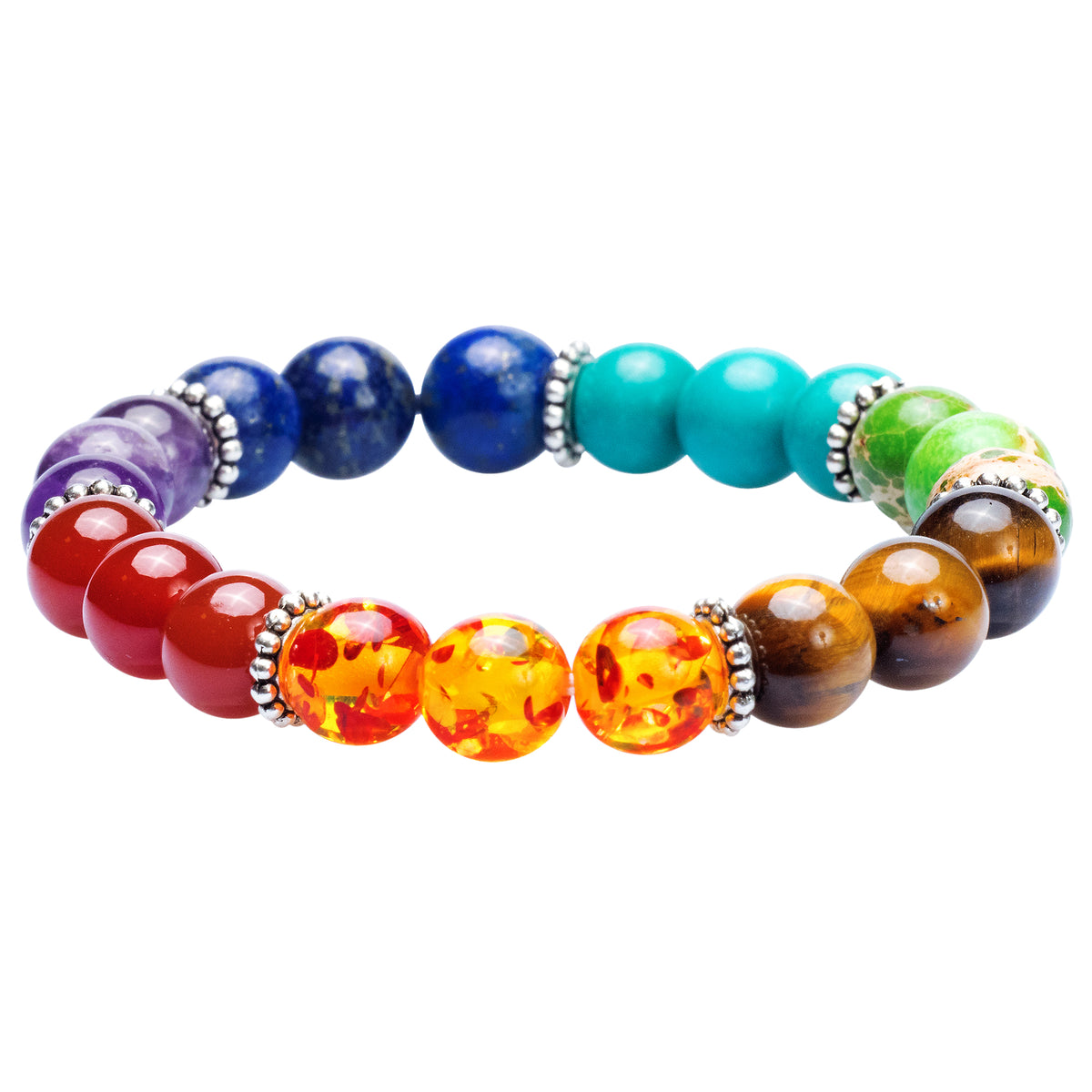 NEW! Women's 7-Chakra Healing Bracelet with Authentic Stones - 7in