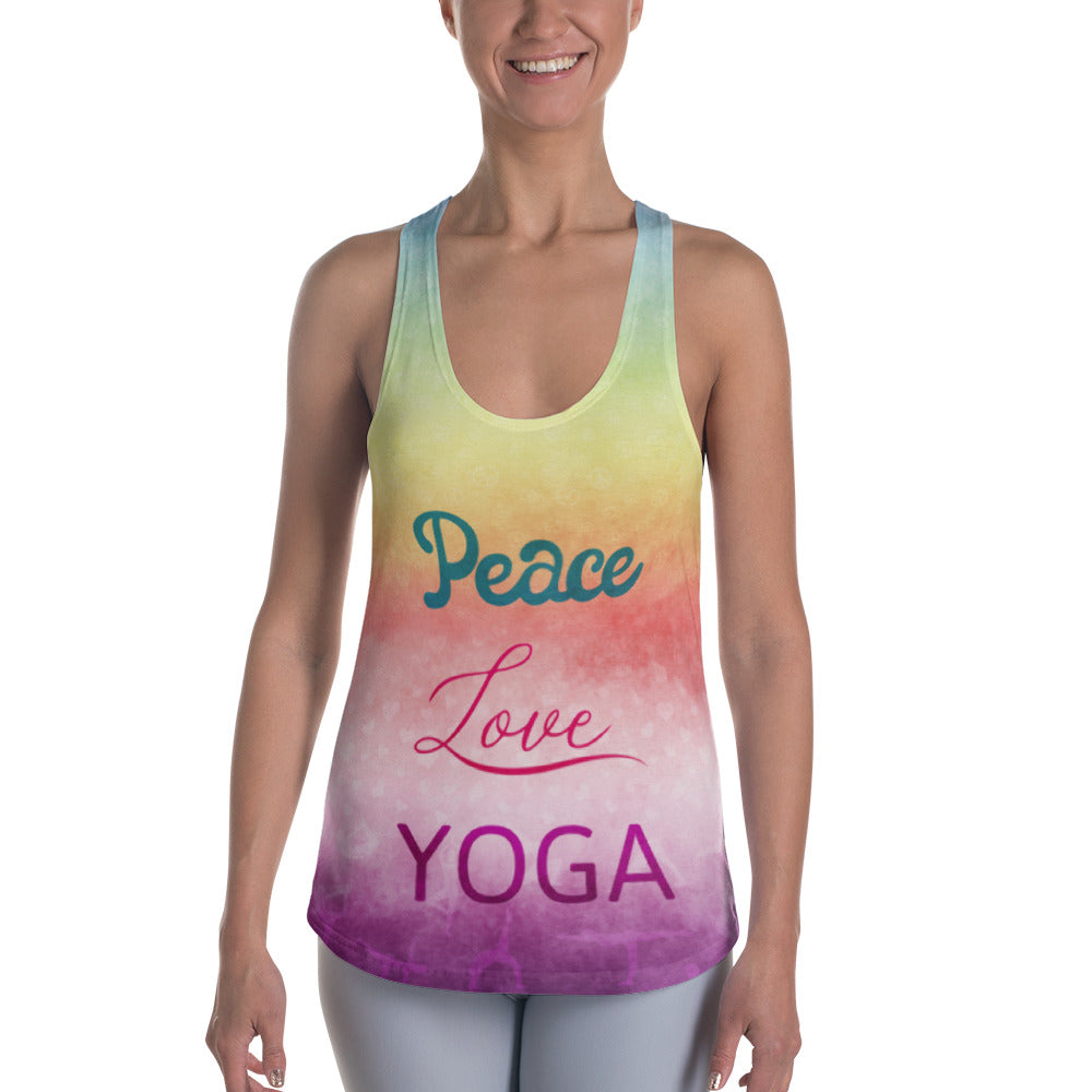 Peace, Love, & Yoga: Women's Racerback Tank