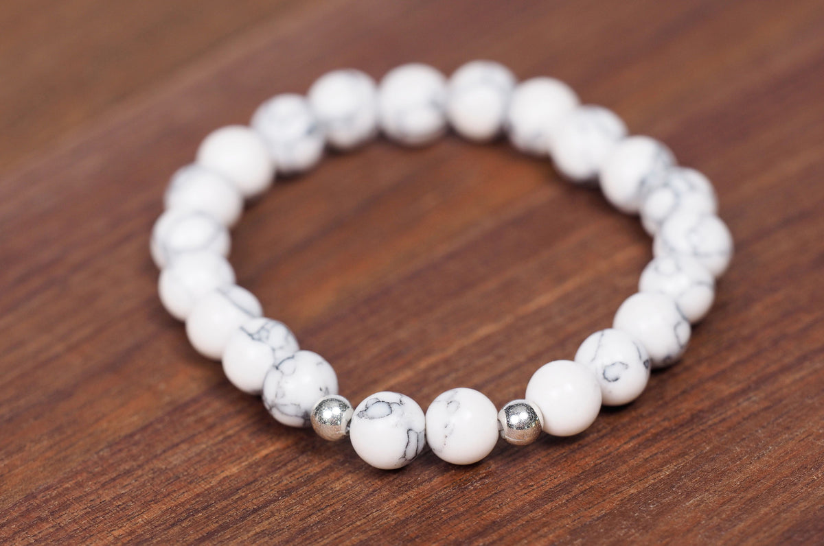 White Howlite Marble Beads - Real Stones