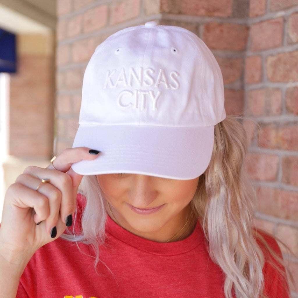 Kansas City White Ball Cap - White