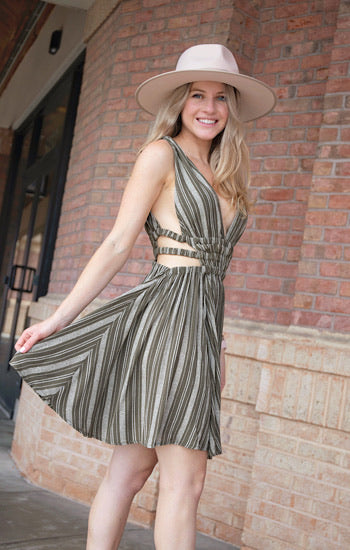 Stay In Touch Olive Dress