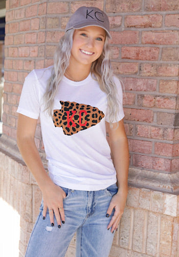 KC Leopard Arrowhead T-Shirt