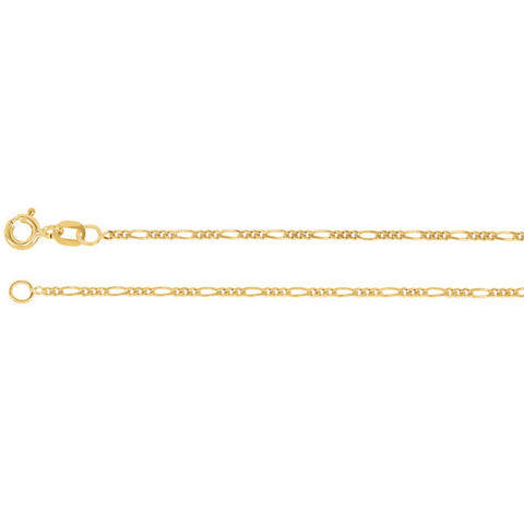 "24"" Pure 14k Gold Figaro Link Chain"