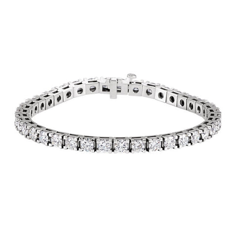 "(10 Carat) Diamond 18K White Gold Tennis Bracelet (7.25"") (Color: G/H, Clarity: SI1)"
