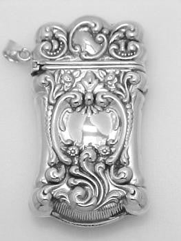 ANTIQUE STYLE STERLING SILVER MATCH SAFE