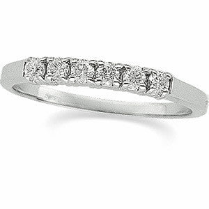 (.25 Carat) 14K White Gold Diamond Wedding Band (Color: G, Clarity: SI)