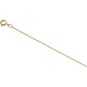 14K YELLOW GOLD NECKLACE 16 INCH CHAIN FOR PENDANT