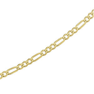 "14K Yellow Gold Fiagro Link Bracelet 4MM (8"")"