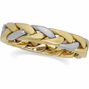 GOLD WEDDING BAND HAND WOVEN