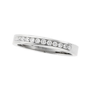 (0.25 Carat) 14K White Gold Diamond Anniversary Wedding Band (Color: H, Clarity: SI)