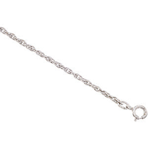 WHITE GOLD BRACELET 7 INCH ROPE CHAIN 1.75MM THICK 14K RETAIL $210 + TAX!