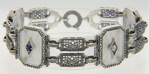 ANTIQUE STYLE BRACELET CAMPHOR GLASS STARBURST CRYSTAL