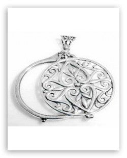 MAGNIFYING GLASS PENDANT STERLING SILVER  RETAIL $175 + TAX!