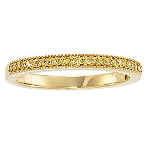14K Yellow Gold Diamond Wedding Bridal Anniversary Band